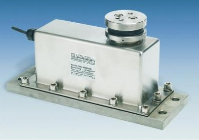 Hydraulically damped single-point weighing load cells